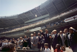 President Kennedy at the All Star Game