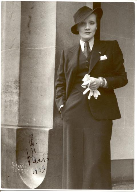 Marlene Dietrich pushing fashion boundaries